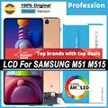 100% Оригинальный 6,7 ''AMOLED дисплей для Samsung Galaxy M51 M515 M515F M515F/DS Полный ЖК сенсорный экран Запасные части + Сервисный пакет