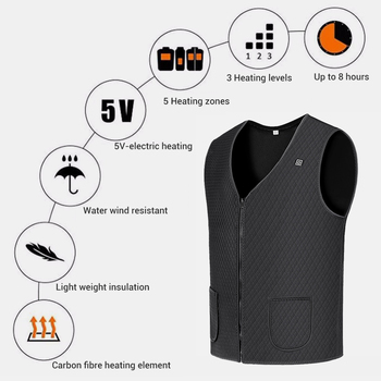 2019 New Motorcycle Jacket heated Jacket USB Infrared Electric Winter Heating Men Women Vest Waistcoat Thermal Clothing Winter## 2