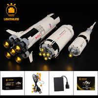 LIGHTAILING Led Licht Up Kit Für Ideen Apollo Saturn V Gebäude Gebäude Block Licht Set Kompatibel Mit 21309