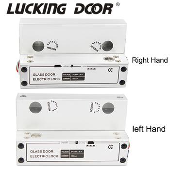 DC12V lewy + prawy bezpieczeństwo elektryczny rygiel blokujący blokada bezramowe szklane drzwi zamek elektroniczny do systemu kontroli dostępu tanie i dobre opinie LUCKING DOOR LK086