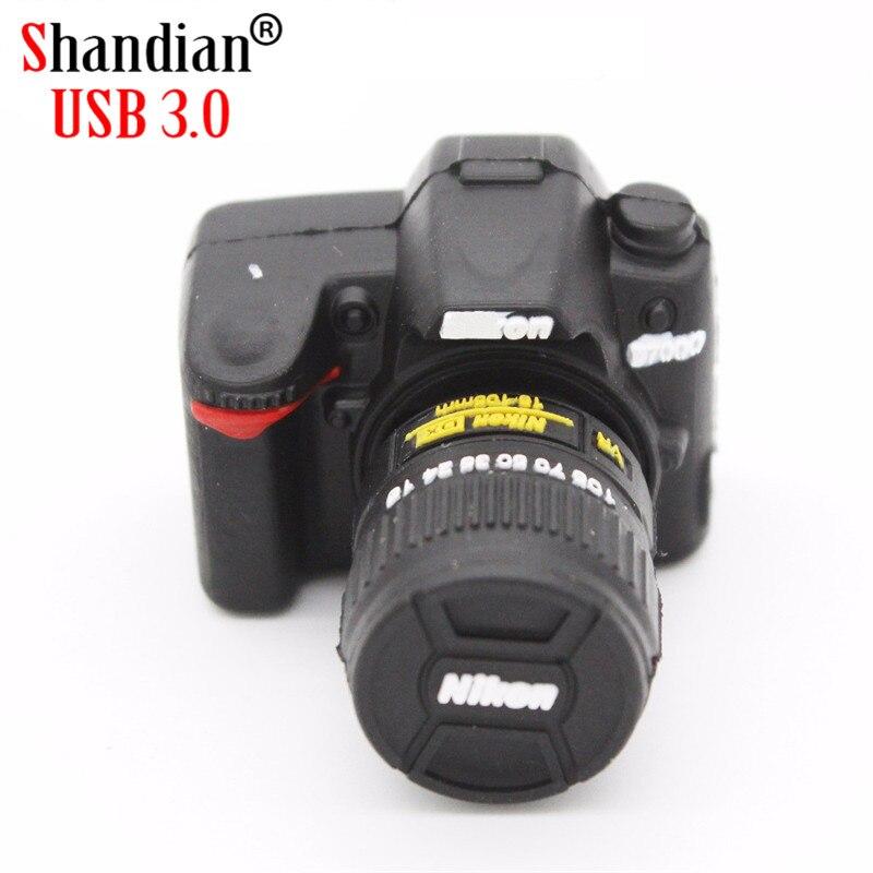 SHANDIAN USB 3,0 оптовая продажа USB stick Nikon камера Мультфильм Креативный u-диск 4 ГБ 8 ГБ 16 ГБ 32 ГБ 64 Гб USB 3,0 высокоскоростной флеш-накопитель