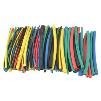 100Pcs Heat shrink tube kit Insulation Sleeving Polyolefin Shrinking Assorted Shrink Tubing Wire Cable - discount item  39% OFF Electrical Equipment & Supplies