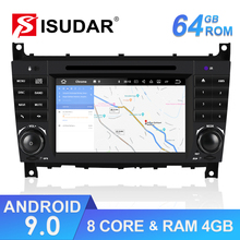 Isudar 2 Din Autoradio Android 9 For Mercedes/Benz/Sprinter/W203/A180/A-class Car Multimedia Player GPS Octa Core RAM 4G DSP DVR цена