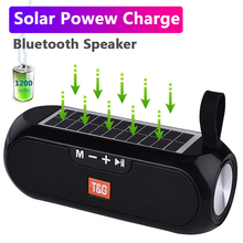Music-Box Column Loudspeaker Solar-Charging Stereo Outdoor Waterproof Portable Wireless