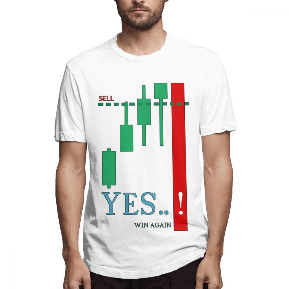 Funny Investment Day Trade Scalper Forex Stock Market Trader T Shir O Neck Short Sleeve Plus Size T-Shirt image