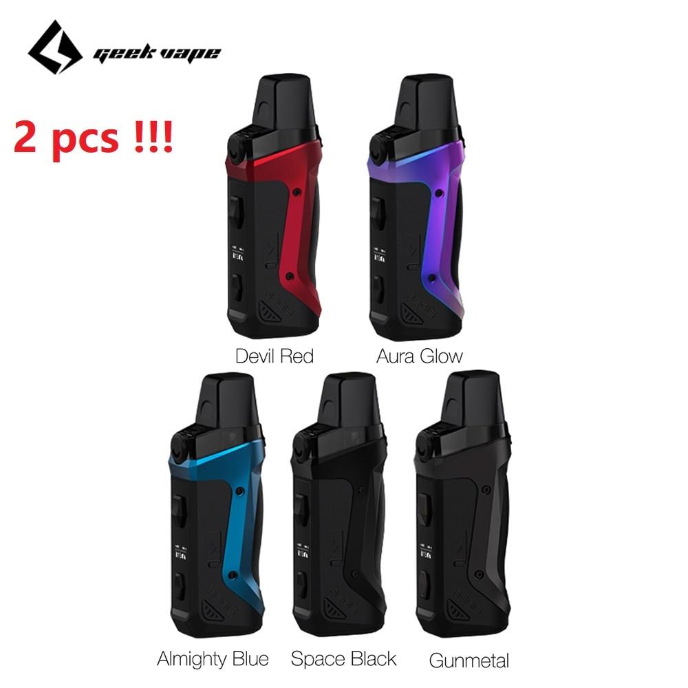 2pcs!!! Geekvape Aegis Boost 40W Pod Mod Kit 1500mAh Battery 2ml/3.7ml Refillable Pod Fit Both Pod & RDTA E-cig Vape Kit VS Solo