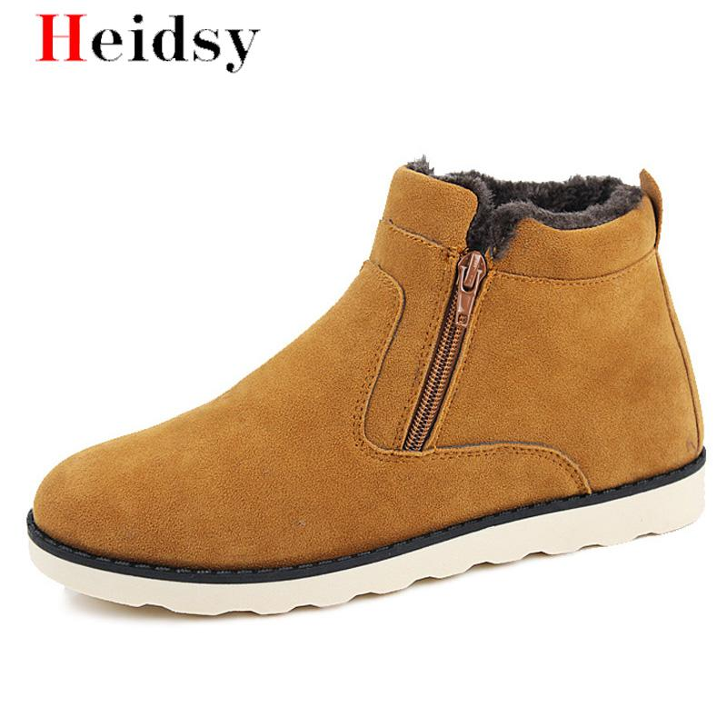 Hot Sale Men Snow Boots Winter Inexpensive Shoes Fashion Non-slip Warm Boots Man Sneakers Ankle Boots Men Winter Boots Plus Size