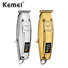 Kemei-separador Profesional de 6 estrellas con cuchilla en T, herramienta de corte y limpieza de líneas nítidas para barberos profesionales
