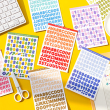 6 листов% 2FSet алфавит номер цифровой наклейки планировщик блокнот дневник милый самоклеющаяся клей письмо наклейки скрапбукинг декор
