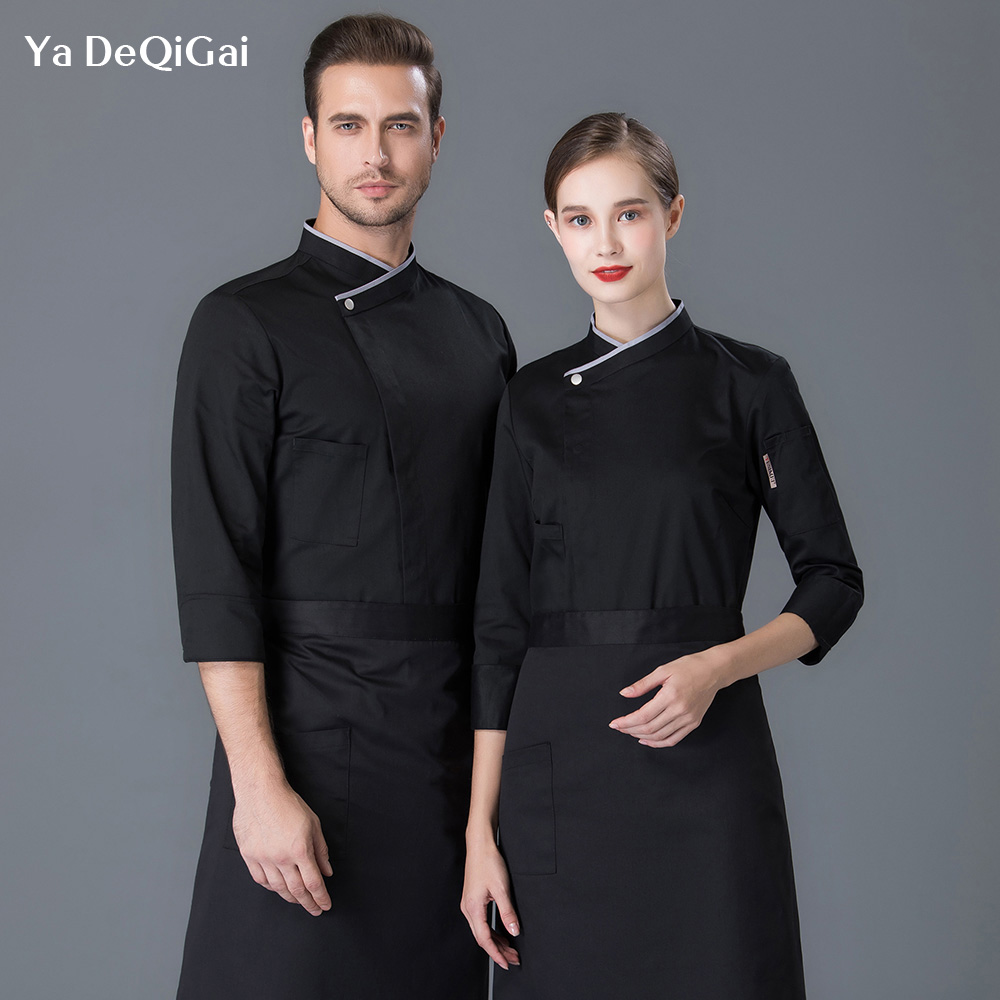 Unisex Hotel Kitchen Chef Jackets Restaurant Uniforms Shirts Cake Shop Workwear Food Service Chef Clothes Men Wholesale M-4XL