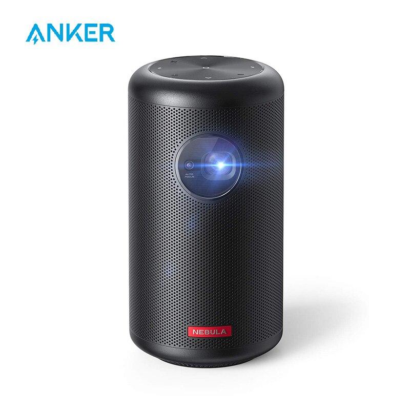 Anker Nebula Capsule Max, мини-проектор по Wi-Fi, портативный проектор 200 ANSI Lumen, 4-часовое время воспроизведения видео