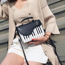 Fashion Brand Designer Cool Personality Ladies Handbag Small Pinao Shape Shoulder Bags Sweety Lady Bag(China)