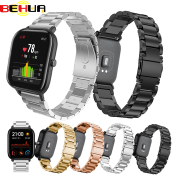 20mm Replacement Watch Band Steel Mesh Metal strap for Huami Xiaomi Amazfit GTS Bip GTR Smart watch Straps with pins Accessories stainless steel mesh bracelet smart watch band magnetic watch strap watch replacement for xiaomi mi amazfit bip youth watch