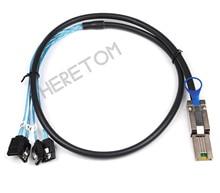 Mini SAS 26Pin SFF 8088 Male to 4 SATA 7Pin Female Hard Disk Splitter Adapter Data Cable 1m, 8088 to 4 SATA Cable