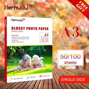 Papel fotográfico A3 brillante, impermeable, de un solo lado para impresora de inyección de tinta, álbum de fotos