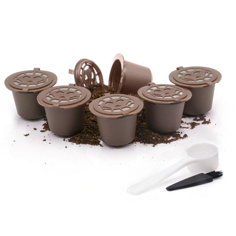 3 шт фильтр для кофе 20 мл многоразовая перезаправляемая кофейная капсула фильтры для Nespresso с ложка-кисточка аксессуары для кухни