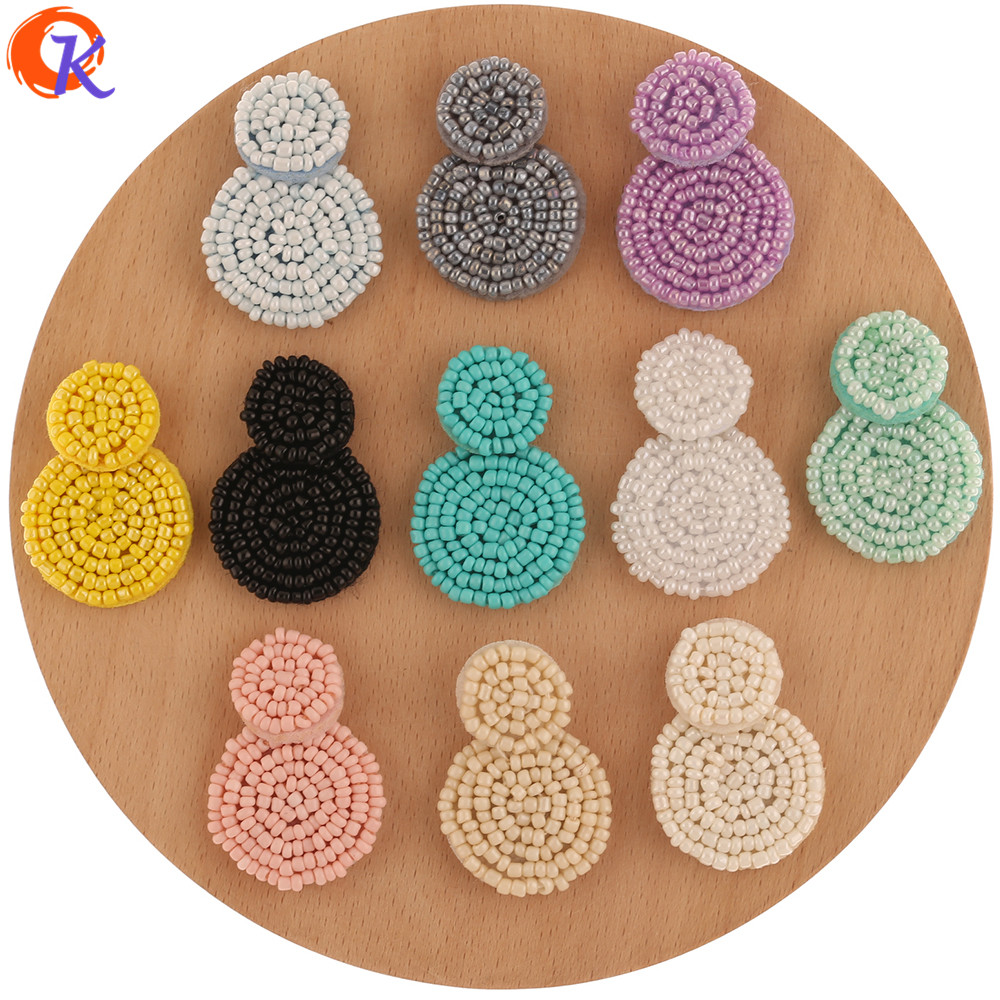 Cordial Design 20Pcs 27*38MM Jewelry Accessories/Hand Made/DIY/Seed Bead Charms/Round Shape/Earring Findings/Jewelry Making
