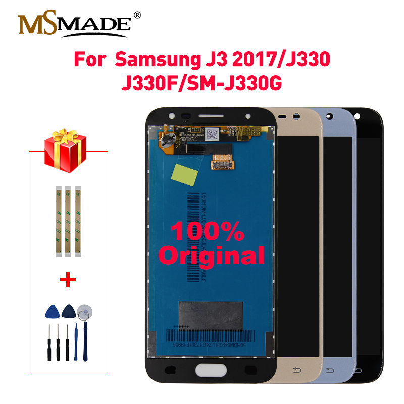 Original LCD For Samsung Galaxy J3 2017 Display Touch Screen Digitizer Assembly Brightness Control For J3 Pro J330F J330 LCD