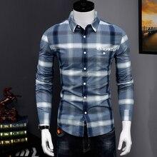Men Plaid Shirt Cotton New Spring Autumn Casual Lo