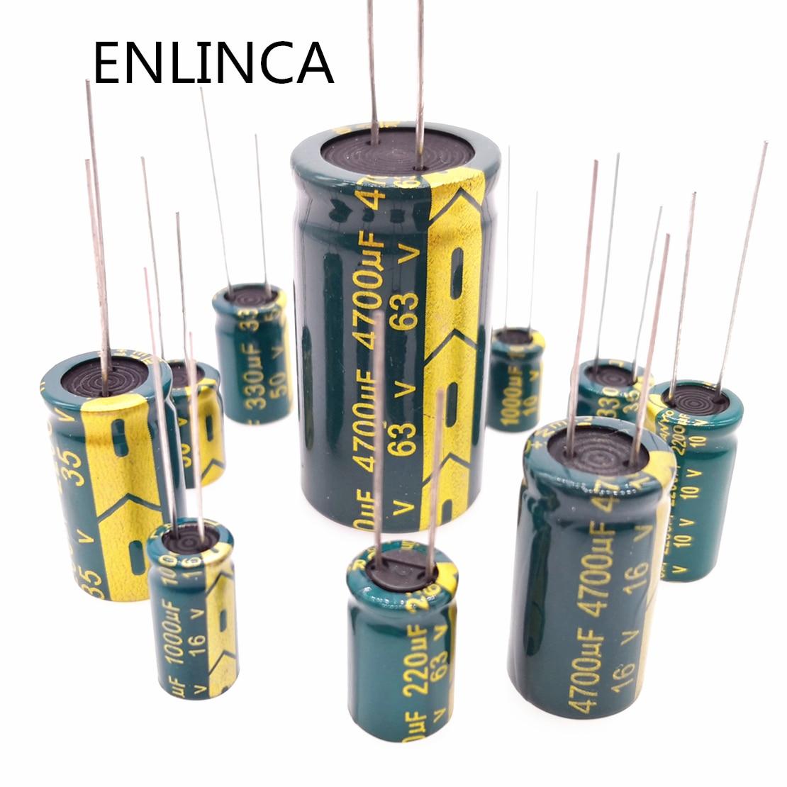 5-20pcs 6.3v 63v 100v 250v 400v 450V Low ESR High Frequency Aluminum Capacitor 2.2uf 4.7uf 6.8uf 10uf 22uf 33uf 68uf 82uf 120uf