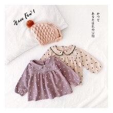 Рубашка для девочек г., новая стильная детская рубашка на весну и осень детская одежда в западном стиле, топы в Корейском стиле