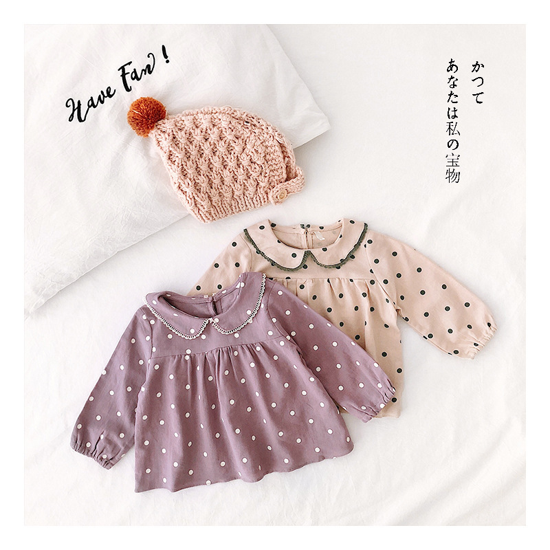 Girl'S Shirt GIRL'S Shirt 2019 Spring And Autumn New Style Children Shirt Children Western Style Clothes Korean-style Tops INS
