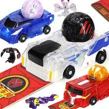 Figuras de acción de MONKART para niños, juguetes de regalo de Navidad para niños, Robot que deforma los huevos, coche, Bakucar