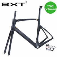 2019 Chinese cheap new racing road frame BXT carbon road cycling frame 700c bike Carbon bike frame V-Brake free shipping