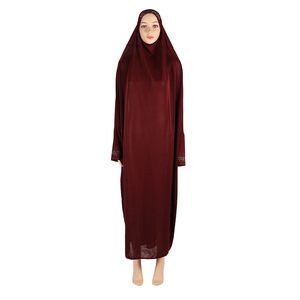 Image 5 - بيع حجم الحرة الراين تنورة الملابس حجم كبير الحجاب Khimmar طويلة Khimars بأكمام