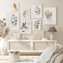 Posters e impressões quarto sala de estar pintura da lona parede arte fotos para parede de design doméstico escandinavo decoração
