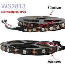 5m/lot WS2813 led pixel strip light;Dual-signal ;30/60 pixels/leds/m,WS2812B Updated;DC5V,IP30/IP65/IP67,Black/White PCB high quality 5m dual signal wires dc5v ws2813 30 60 144leds m individually addressable rgb led pixel light strip 2811 ws2812b up