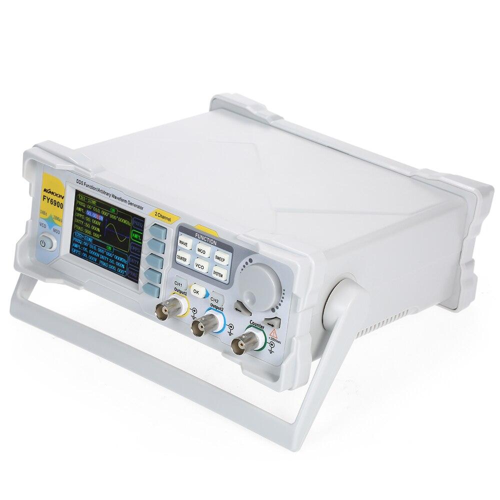 KKmoon 60 МГц Высокоточный DDS цифровой двухканальный генератор сигналов 250 Мвыб/с измеритель частоты генератор сигналов модуляции
