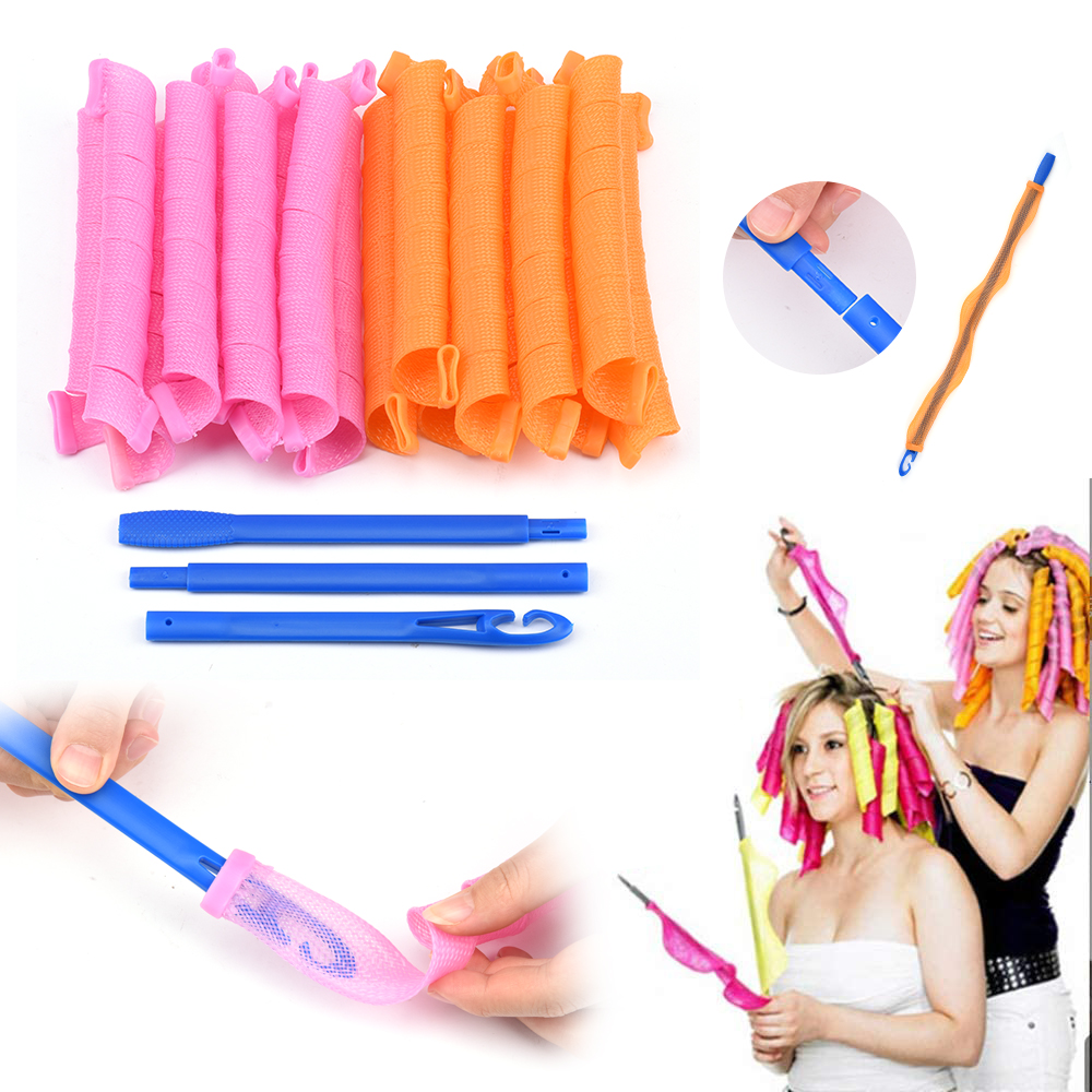 18PCS/Set 55cm Long Diameter DIY Hair Style Manual Curlers Hair Care Rollers Magic Curls Soft Magic Hair Rollers Dropshipping