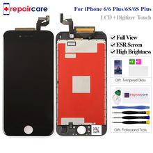 Full View High Brightness LCD For iPhone 6 6 Plus 6s Plus LCD Screen Replacement Display with Touch Screen Digitizer Assembly стоимость