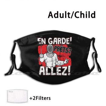Esgrima es Garde Prets Allez máscara DIY lavable filtro Pm2.5 la tendencia...