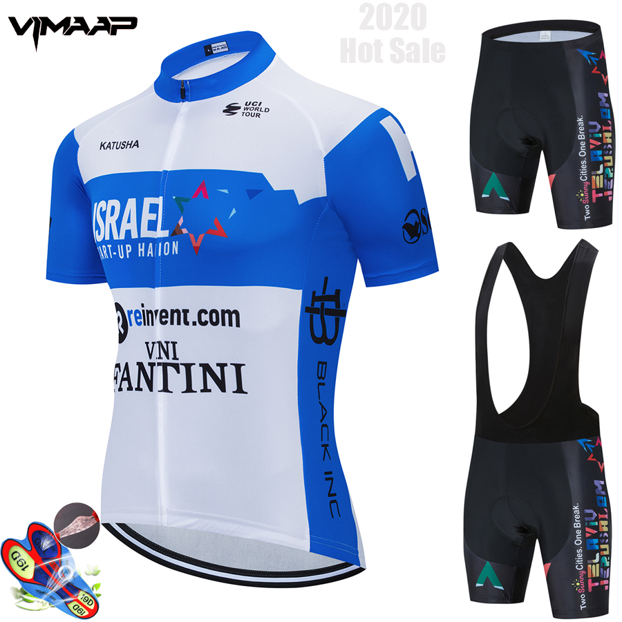 """Israel Cycling Academy Team 2019 Cycling Pro sets 9d Gel Pad Quick Dry /""""NEW/"""""""