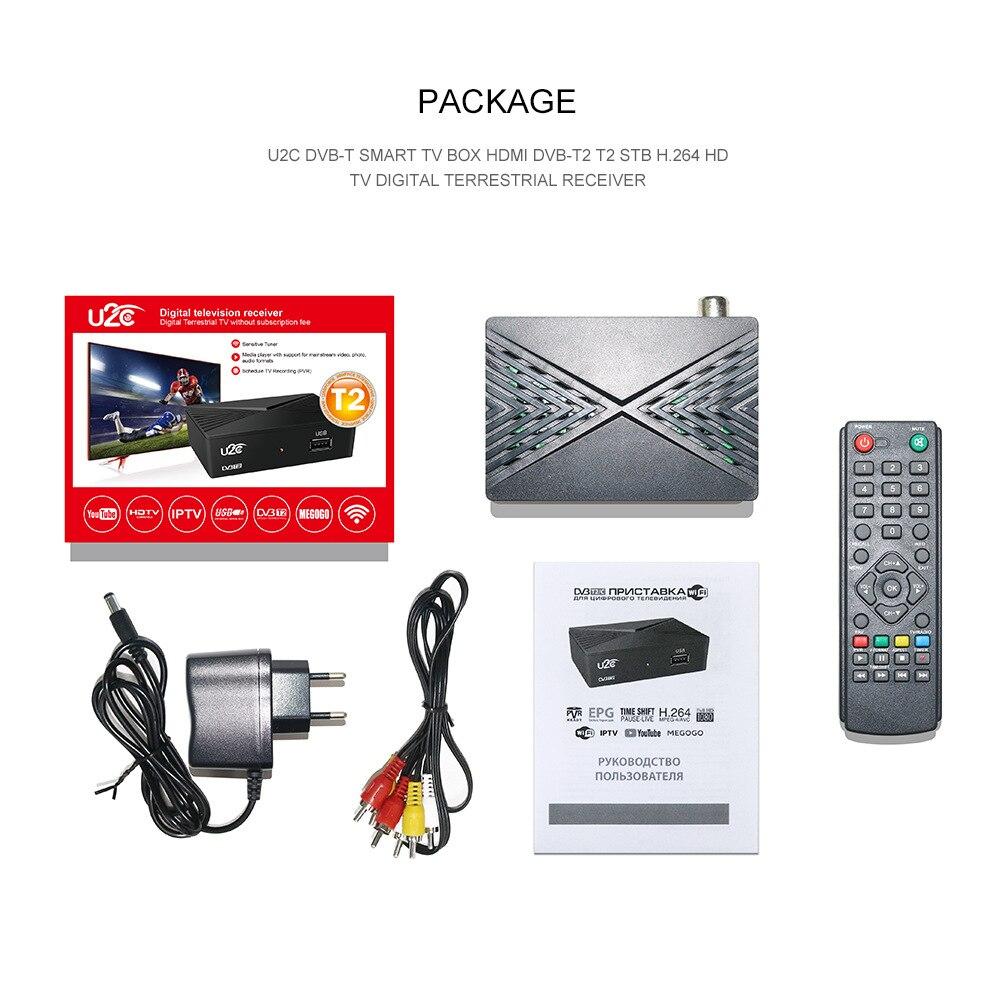 Mini U2C Digital TV Tuner DVB T2 Vga Tdt Hd Dvb-t2 TV Receiver Dvbt2 DVB-C Tv Set Top Box DVBT2-C HDTV