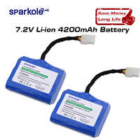 Sparkole 4200mAh Lithium battery for Neato XV-11 XV-12 XV-14 XV-15 XV-25 XV-21 XV Signature Pro Robotic Vacuum Cleaner 2Pack UL