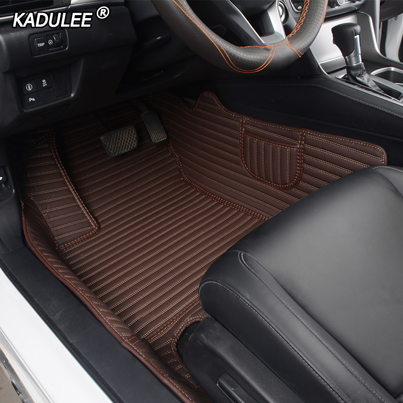 Custom car floor mats for honda accord city ODYSSEY jazz CRV CRZ URV ENVIX civic Fit stream elysion spirior insight foot mats title=