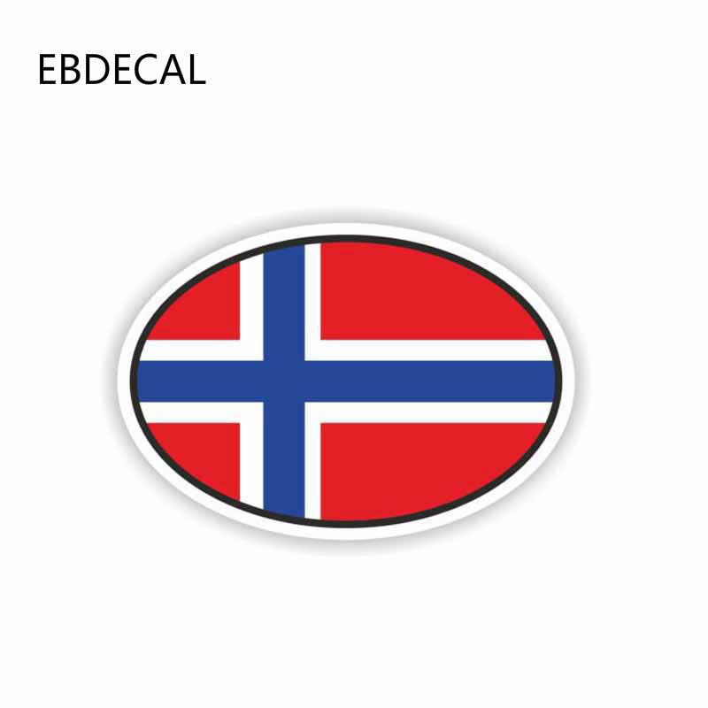 EBdecal Car Styling Norway Flag Oval  For Auto Car/Bumper/Window/Wall Decal Sticker Decals DIY Decor CT11524
