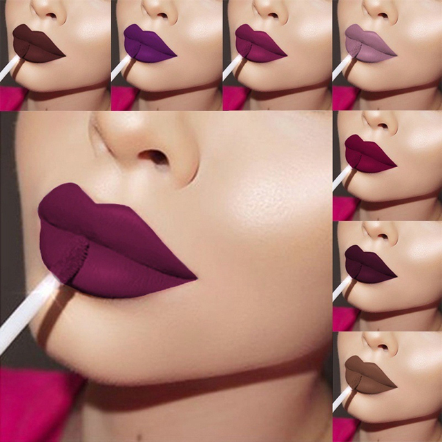 New 24 Color Liquid Lipstick Matte Makeup Waterproof Red Lip Long Lasting Gloss Mate Black Lip Stick Matte Liquid Lipsticks