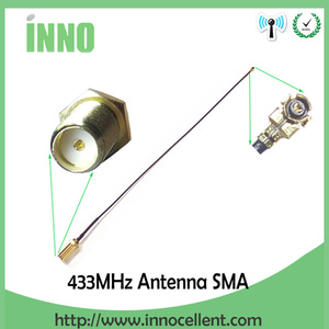 Image 4 - 5pcs 433 Mhz Antenna 5dBi SMA Maschio Connettore antenne 433 mhz bianco antena 433 m + 21 centimetri RP SMA SMA a Ufl/IPX di Estensione Della Treccia del Cavo