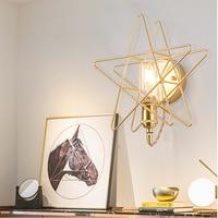 Nórdico lâmpadas de parede moderna arandela luminária de parede escada led luz em pós moderno rústico antigo edison vidro forma esférica|Luminárias de parede| |  -