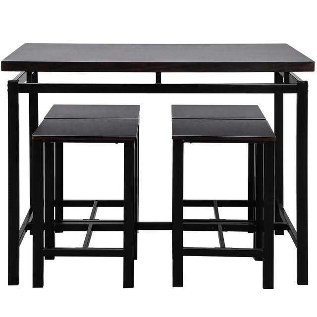 High Bar Dining Table and 4 Chairs Set  4