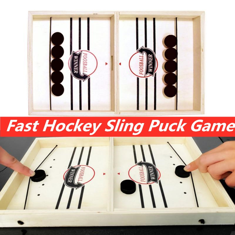 Fast Sling Puck Game Paced Sling Toys Board Game For Kids Adults  Fast Action Puck Game Winner Board Kid Games Dropshipping