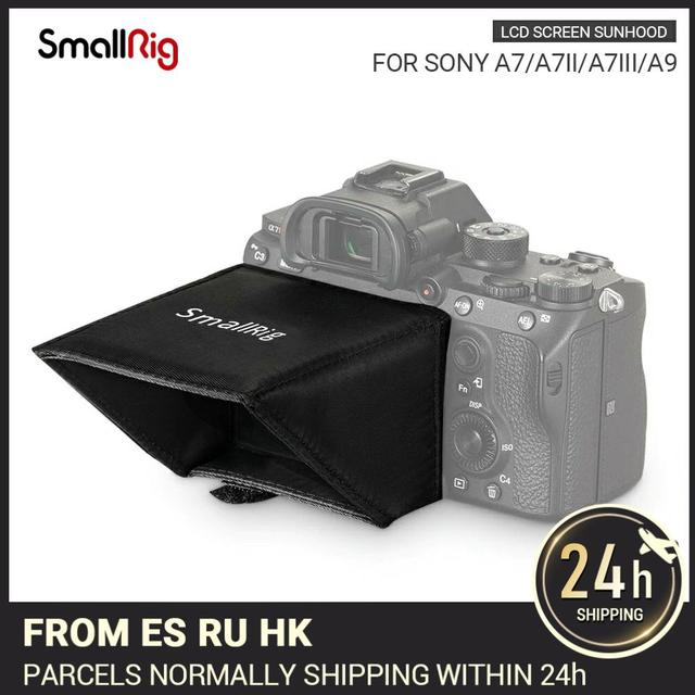 SmallRig 카메라 스크린 썬 쉴드 후드 소니 A7 A7II A7III A9 시리즈 DSLR 카메라/캠코더 뷰파인더 선셰이드 후드 2215