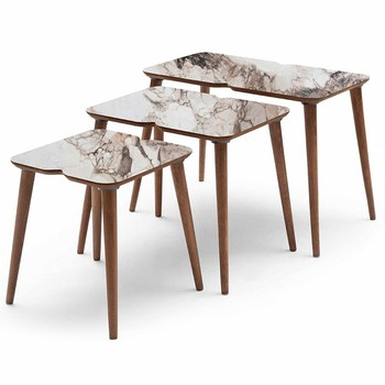 Petek Zigon Coffee Table to the world from Turkey 3 PCs coffee table medium coffee table modern and practical tea tables home accessories