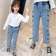 Girls Jeans Demin-Pants Kids Trousers Spring Children Blue New Autumn Fashion for Causal