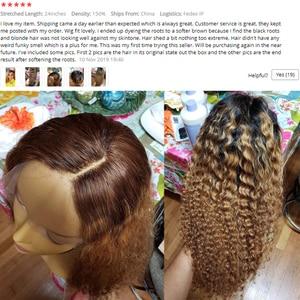 Image 5 - Ombre สีบลอนด์ CURLY วิกผม 13X6 ลูกไม้ด้านหน้าวิกผม Pre Plucked 1B/27 สี Ombre บราซิล CURLY Remy Hair Dream Beauty