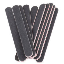100/180 Nail Files Sanding Double-sided Polishing Manicure Nail Art Tools Red Heart Black Sand Straight Strip